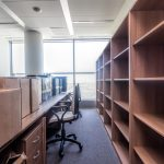 Shelves and paper boxes, moving to new office building